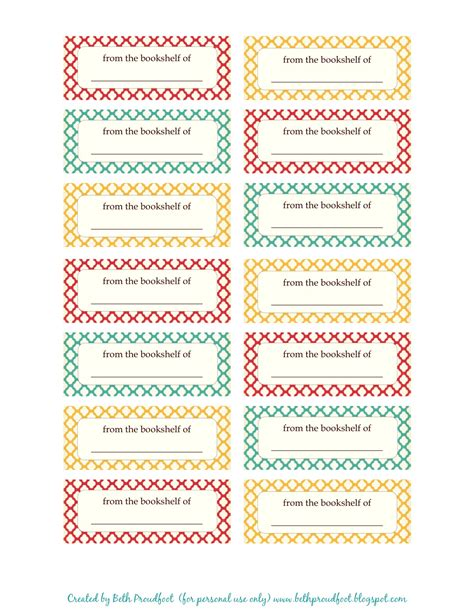 Etiketten Aufkleber by The Prudent Pantry Free Printable Book Labels