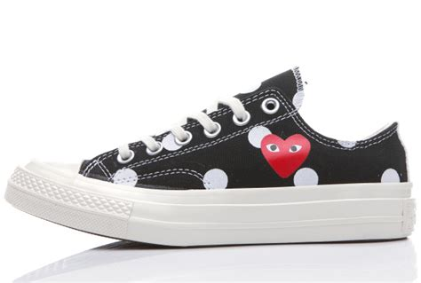 Converse 1970s Cdg Play Low Black White converse 1970s black comme des garcons polka dot play all low tops sneakers 151477c 58