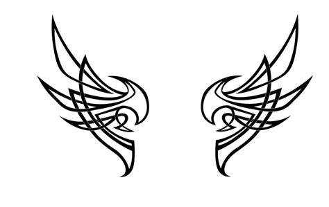 tribal pattern wings tribal wing revisited by nox dracoria on deviantart
