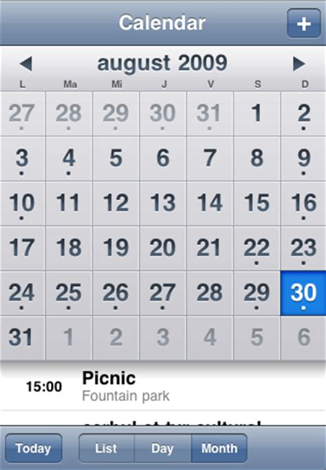 Comparison Between Calendars Keep The Default Notifications When You Sync Iphone S