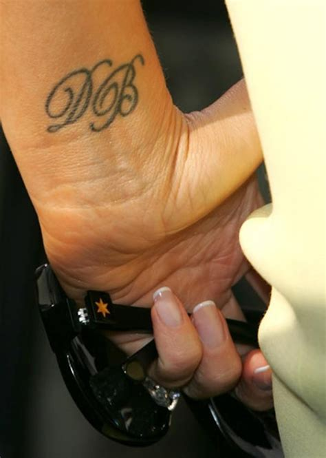 beckham wrist initials facing the right