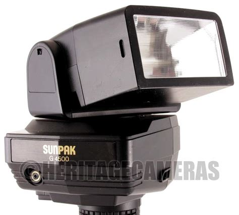 Flashes Sunpak flashes sunpak g4500 flash was sold for r255 00 on 19