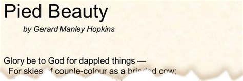 poem pied beauty  gerard manley hopkins