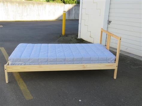 ikea bed frame fjellse ikea fjellse bed frame and mattress central saanich