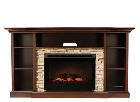 Console With Fireplace by Merrick 65 Quot Tv Console W 25 Quot Electric Fireplace