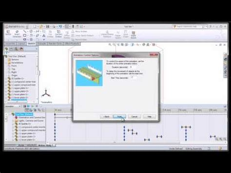 solidworks tutorial how to animate a 6 dof degrees of solidworks 2012 motion animation doovi