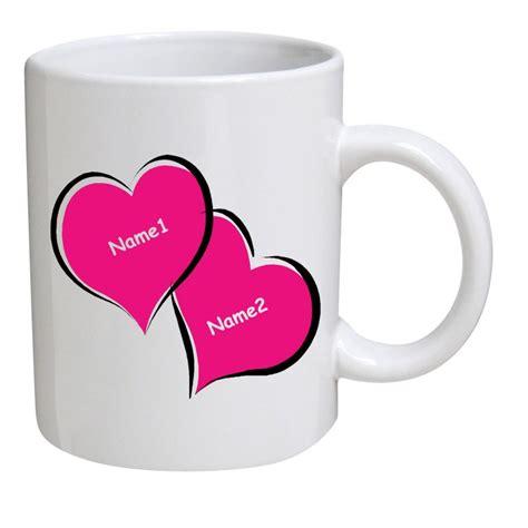 Mug Costum Nama personalized coffee mug two name