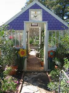 Greenhouse From Salvaged Windows Decor Dishfunctional Designs Greenhouses Made With Salvaged Windows