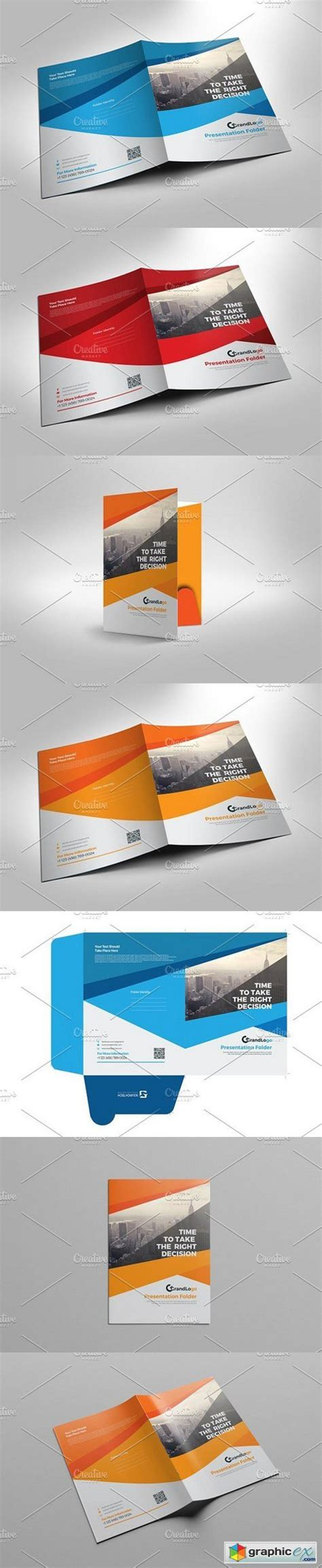 presentation folder template 187 free download vector stock