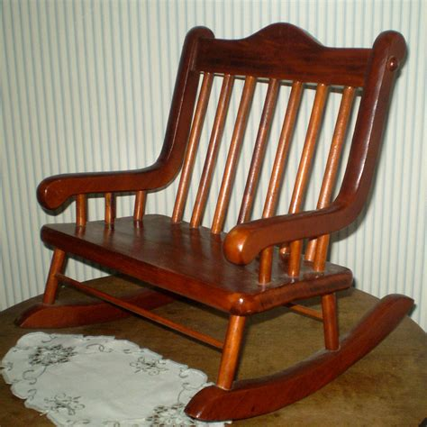 Doll Rocking Chair by Vintage Doll Rocking Chair Teddy Rocker Wide By