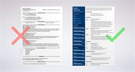 Personal Resume Template by Personal Trainer Resume Sle And Complete Guide 20