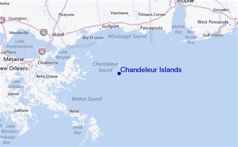 louisiana islands map chandeleur islands surf forecast and surf reports