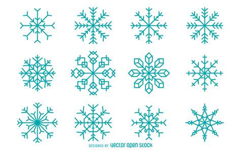 snowflake geometric pattern geometric snowflake collection free vector