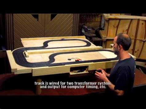 and track table slotcar coffee table