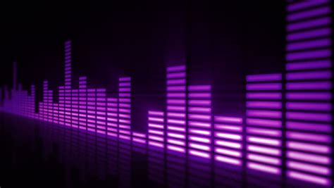 top bar songs music control levels in purple color bars audio equalizer