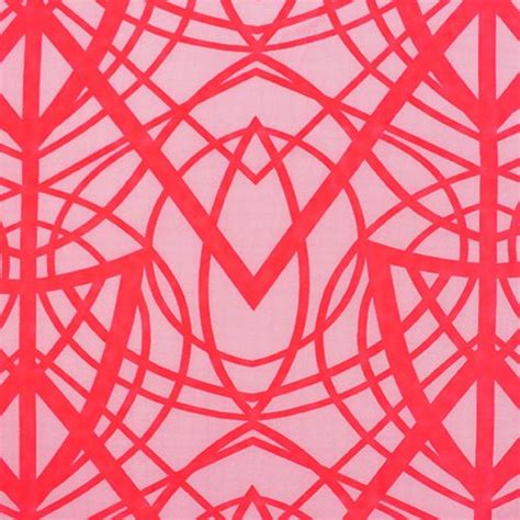 neon coral color neon coral cross lines on pink skin fabric