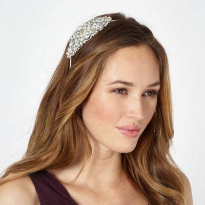 Wedding Hair Accessories At Debenhams by No 1 Packham Designer Silver Gem Floral Headband
