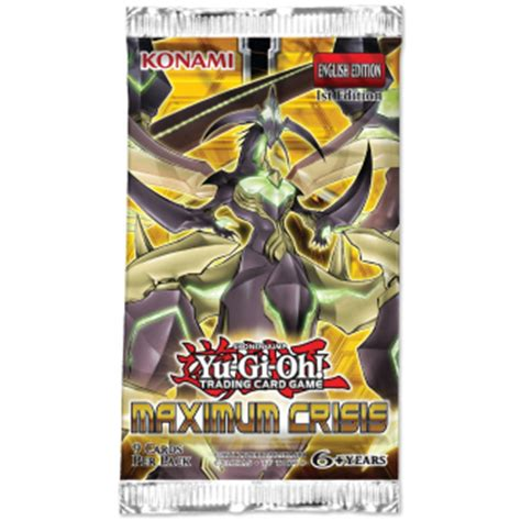 Yugioh Card Pack 9 Card yu gi oh maximum crisis booster pack 5 foil cards 1st ed
