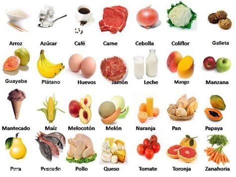 imagenes de comidas en ingles y español vocabulario de la comida en espanol imagui