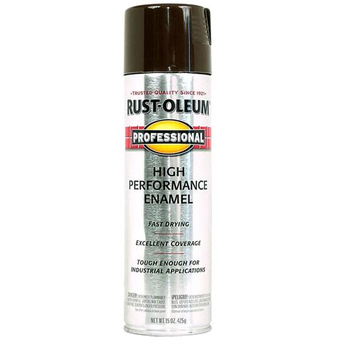 shop rust oleum professional brown enamel spray paint actual net contents 15 oz at lowes