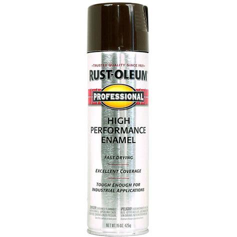 shop rust oleum professional brown enamel spray paint actual net contents 15 oz at lowes