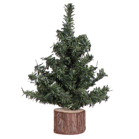 walmart christmas tree bases vickerman artificial tree 6 quot mini pine tree 72 tips wood base walmart