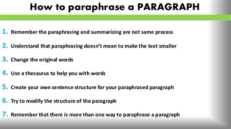 tips on how to a top tips on how to paraphrase sle
