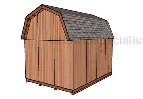 12x16 gambrel storage shed plans 12x16 barn shed doors plans howtospecialist how to