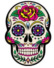 colorful skeleton white sugar skull magnet tattoos sugar