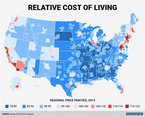 least expensive state to live in regional price parities business insider