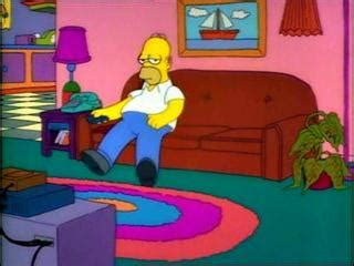 simpsons sitting on couch tenaciousglee vs homer simpson rangers nerd fitness
