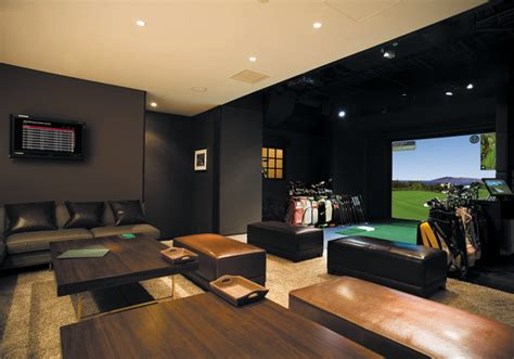 golf simulator reviews home theater modern with amenity