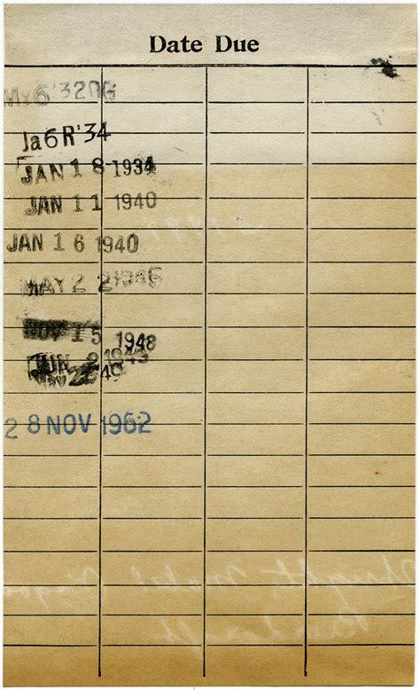 printable junk journal vintage library card shabby grunge ephemera printable