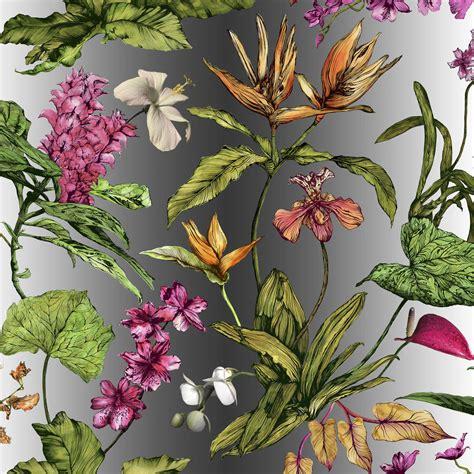 botanical wallpaper tropical hothouse botanical wallpaper by terrarium designs