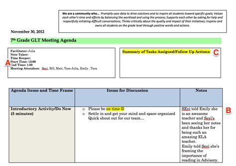 So You Re Becoming A Department Chair Or Grade Level Lead Start Now The Together Teacher The Level 10 Meeting Agenda Template