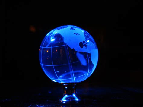 soul amp strange glass earth globe led photo art