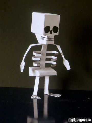 How To Make Skeleton With Paper - special papercraft skeleton digitprop