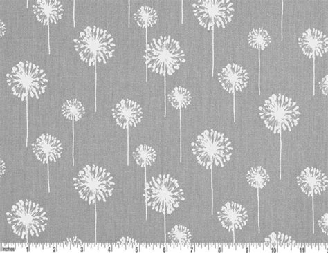 grey and white upholstery fabric dandelion cotton fabric drapery fabric grey and white