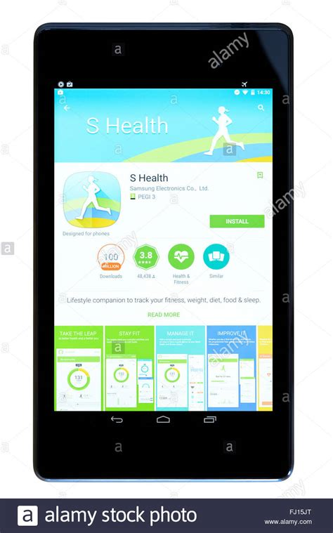 Android Health App by Fitness Tracker S Health App On An Android Tablet Pc