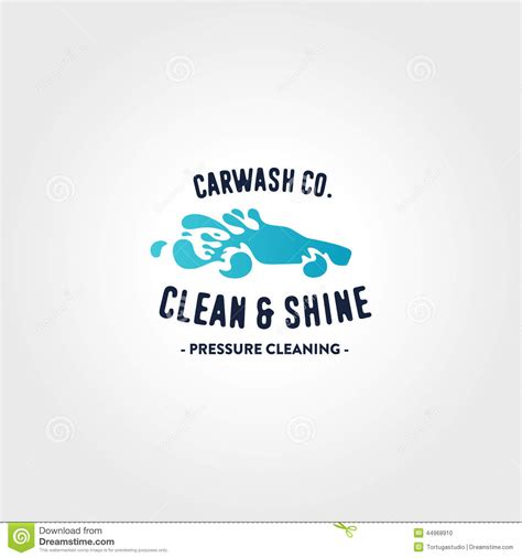 Car Wash Logo Template Stock Vector Illustration Of Illustration 44968910 Car Wash Logo Template Free
