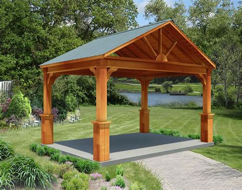 Red Cedar Long Gable Ramadas Ramadas By Roof Type Metal Roof Pergola