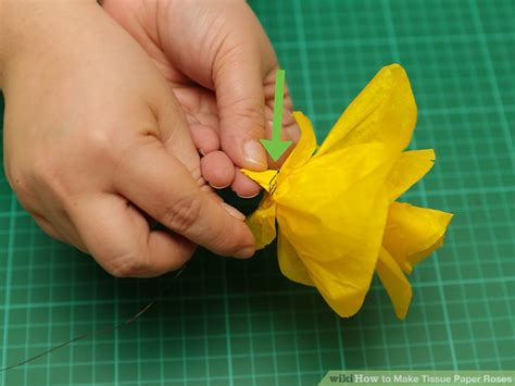How Do You Make Roses Out Of Tissue Paper - 3 ways to make tissue paper roses wikihow