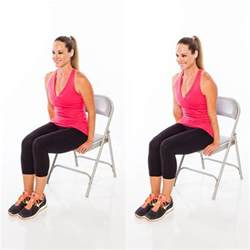 5 chair exercises that reduce belly in no time