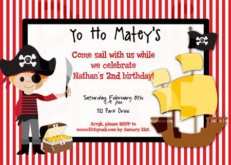 Free Printable Pirate Birthday Party Invitations Dolanpedia Invitations Template Pirate Birthday Invitation Template