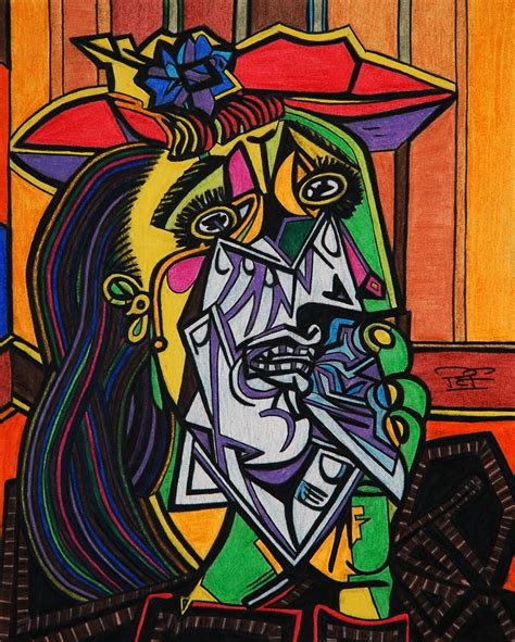 picasso paintings weeping the weeping by artbypaulfisher on deviantart
