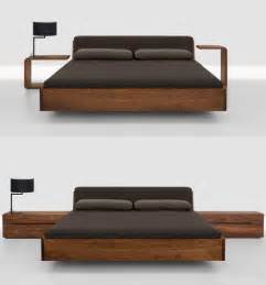 Bed Frame In Wood Solid Wood Beds Fusion Bed With Upholstered Headboard By