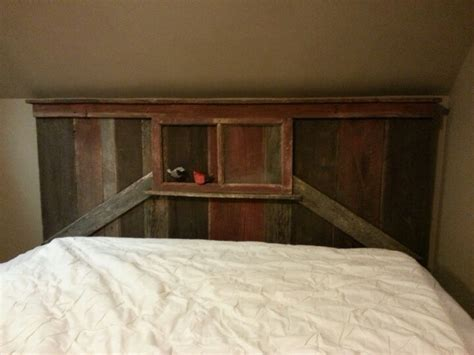 barn headboard barn board headboard diy ideas pinterest
