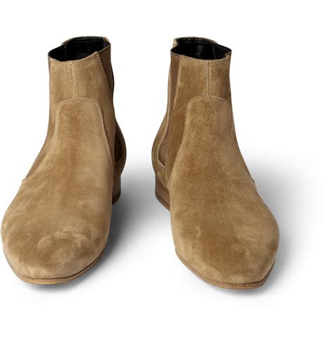 St Boots laurent suede chelsea boots in for lyst