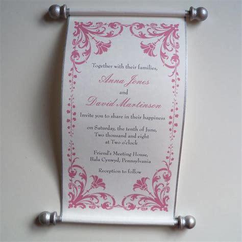 scroll wedding invitations in dubai damask flower wedding invitation scroll set of 10