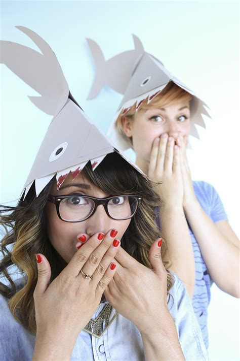 How To Make A Paper Shark Hat - literally nothing is better than this shark hat diy huffpost